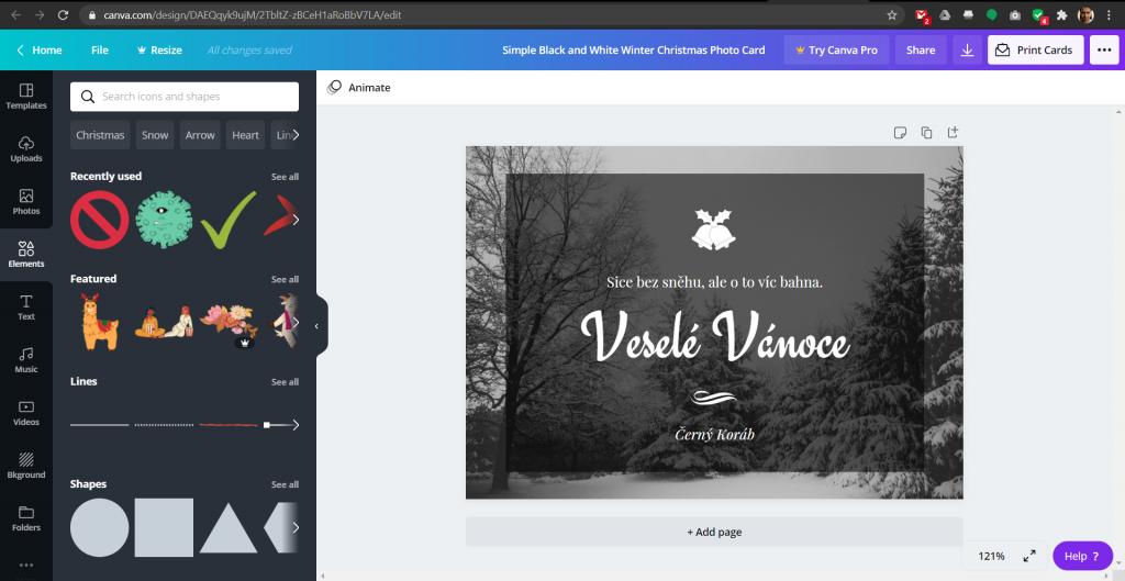 Online grafický editor Canva